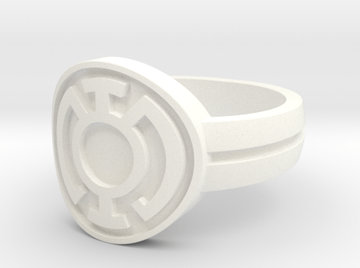 Blue Lantern Double Banded Sz 11 3d printed