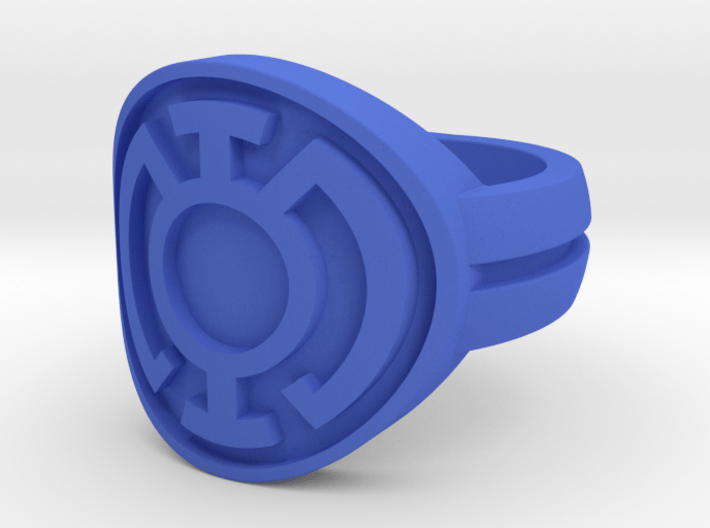 Blue Lantern Double Banded Sz 5 3d printed