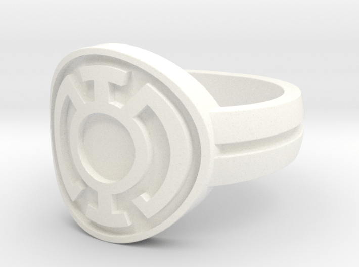Blue Lantern Double Banded Sz 9 3d printed