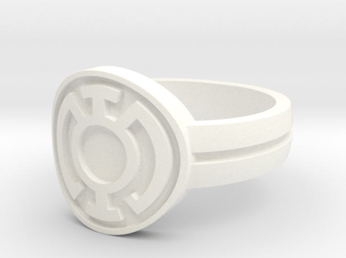 Blue Lantern Double Banded Sz 13 3d printed