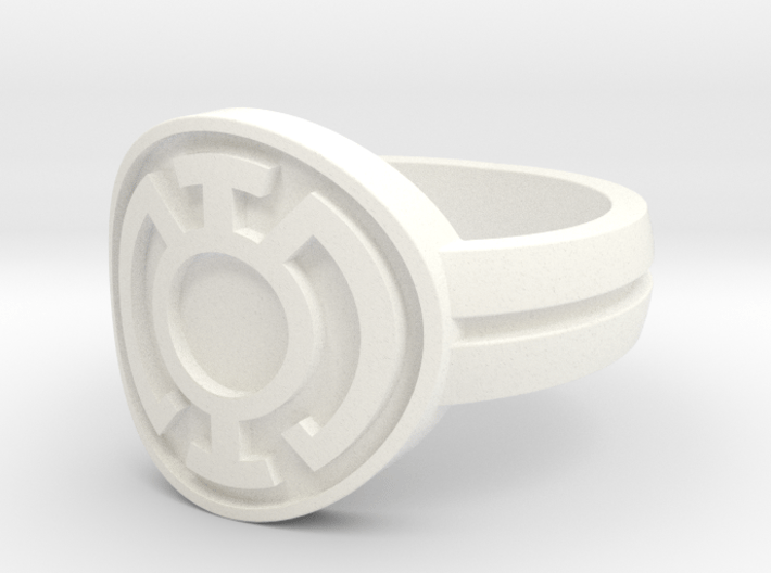Blue Lantern Double Banded Sz 10 3d printed