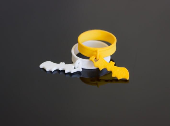 Bat Charm Ring 3d printed