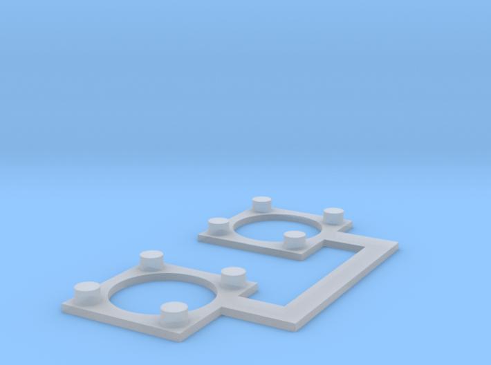 O Scale L&WV Pole Bases 3d printed