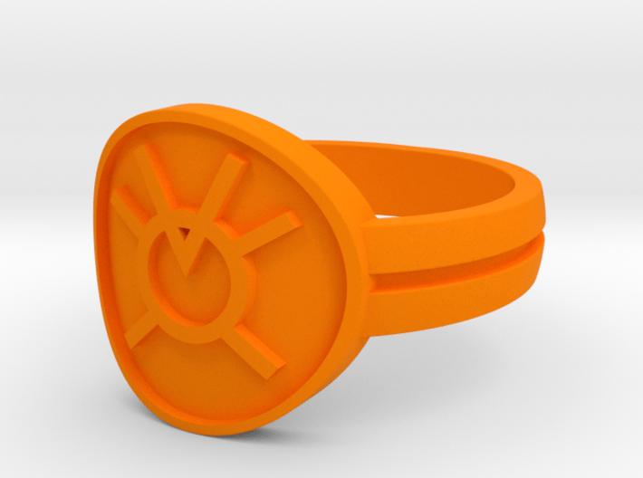 Orange Avarice Double Banded Sz 15 3d printed