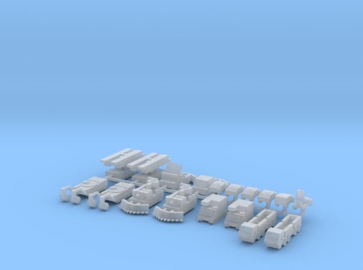 1/700 M1 Engineer Tanks 3d printed