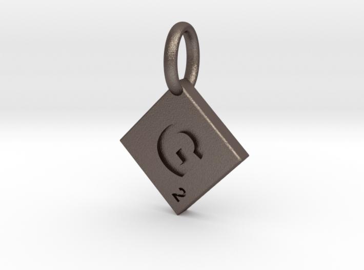 SCRABBLE TILE PENDANT G 3d printed