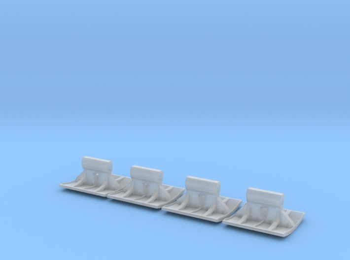 SET 4x Straßenbelag-Stempel 28mm (N 1:160) 3d printed
