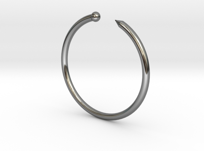 Serpent Ring - Sz. 7 3d printed