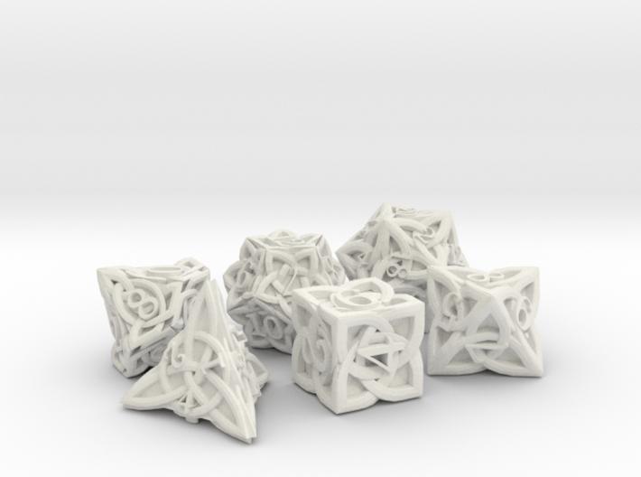 Celtic Dice Set - Solid Centre for Plastic 3d printed