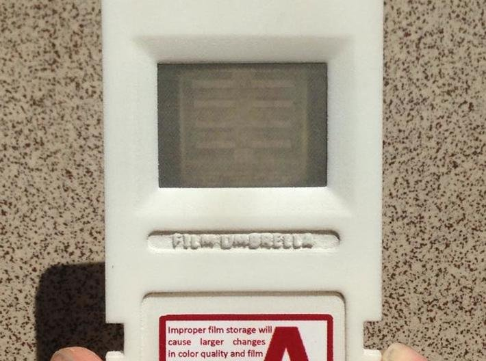 Resident Evil 0: microfilm frame 3d printed Object polished with sandpaper and assembled with stickers and transparent film- FRONT