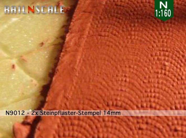 2x Steinpflaster-Stempel 14mm (N 1:160) 3d printed