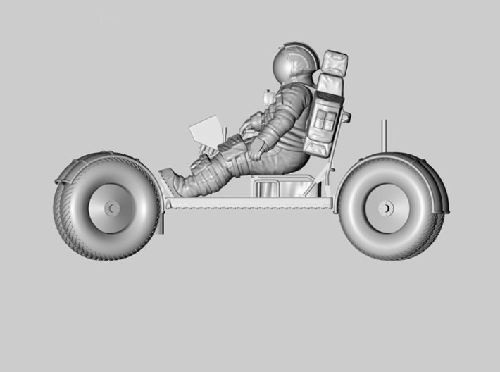 1:24 Apollo Astronaut /LRV(Lunar Roving Vehicle)  3d printed