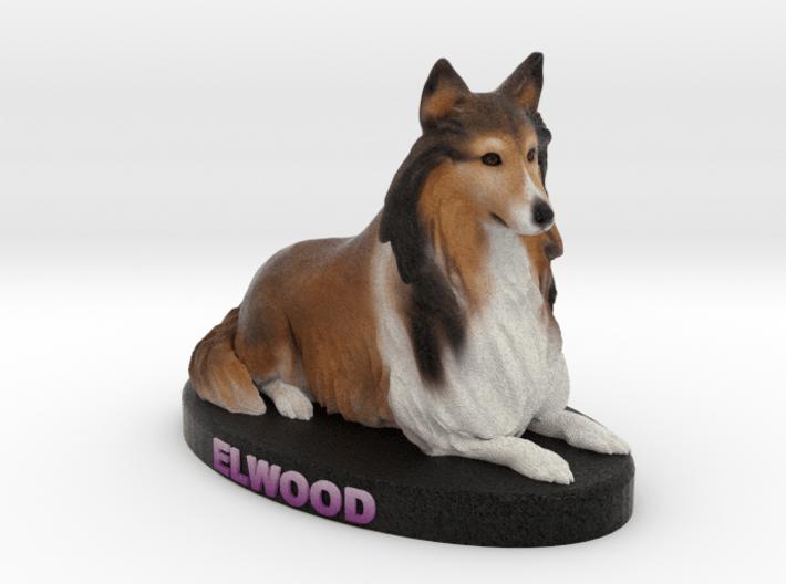 Custom Dog Figurine - Elwood 3d printed