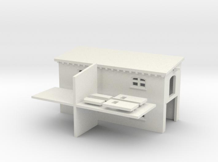 Schuppen mit Garage (Z, 1:220) 3d printed
