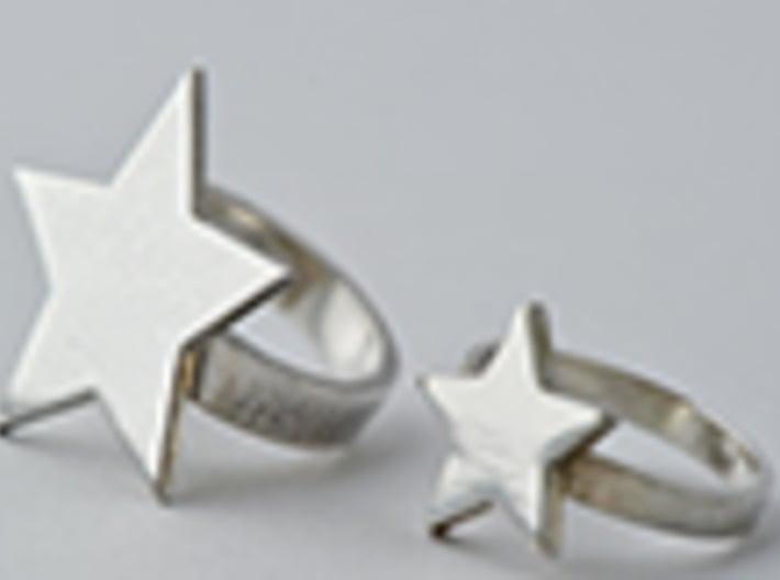 Silver Ring (small star) 3d printed get bli