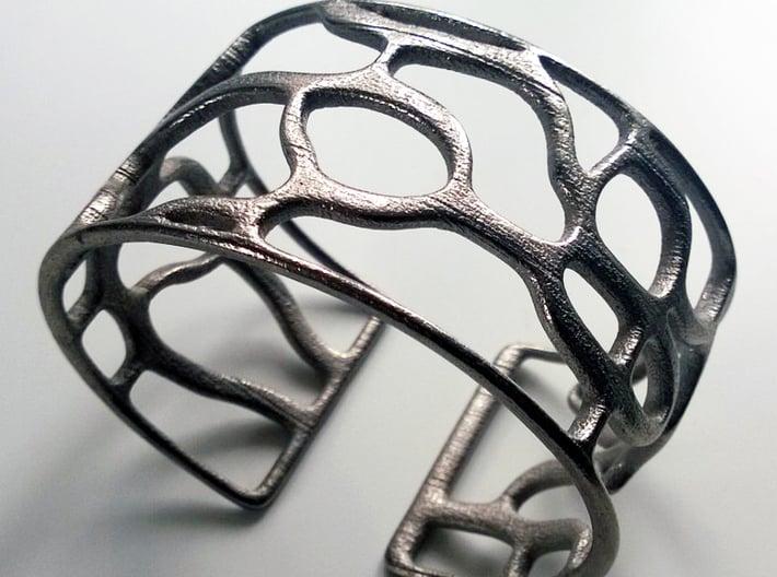 Underground Bracelet 3d printed Polished Nickel, Get Bli