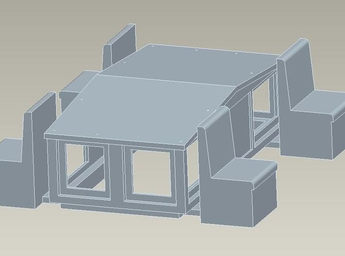 HO Cupola for Wingless Plow 3d printed