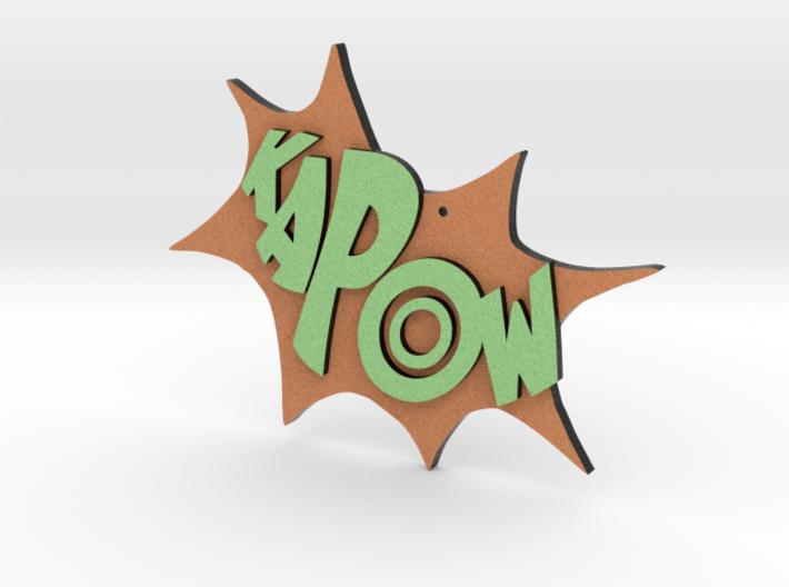 Kapow Ornament 3d printed