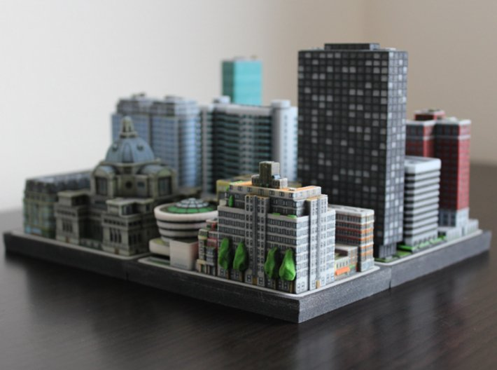 New York Set 2 Residential Building C 4 x 2 3d printed