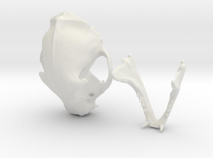 Mini Cat Skull Sculpture 3d printed