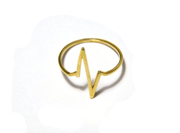 Heartbeat Ring 3d printed