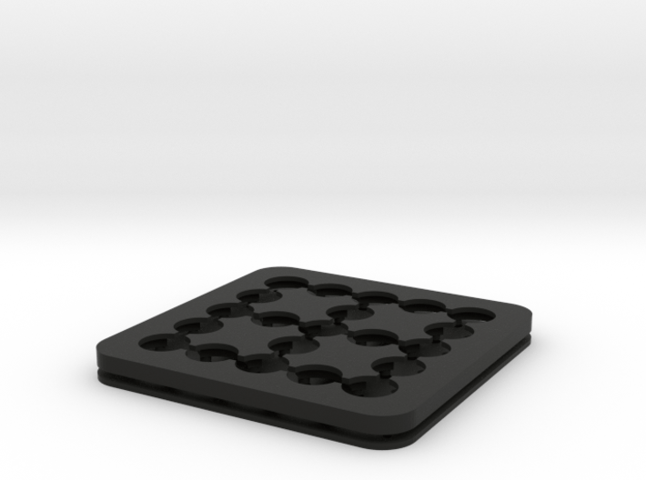 Dancing Dice & Dominoes Puzzle - Part 2/3 (Frame) 3d printed