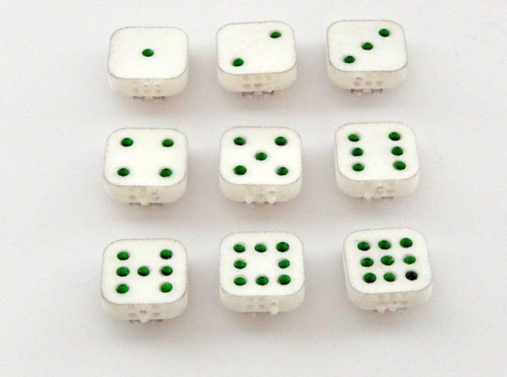 Dancing Dice & Dominoes Puzzle - Part 1/3 (Tiles) 3d printed