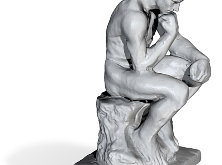 Thinker with Custom Face - Sample 5in 3d printed