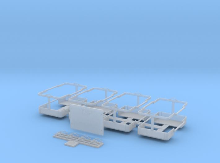 IDF M50/M51 Sherman/Tiran jerry-can rack set 1/16 3d printed