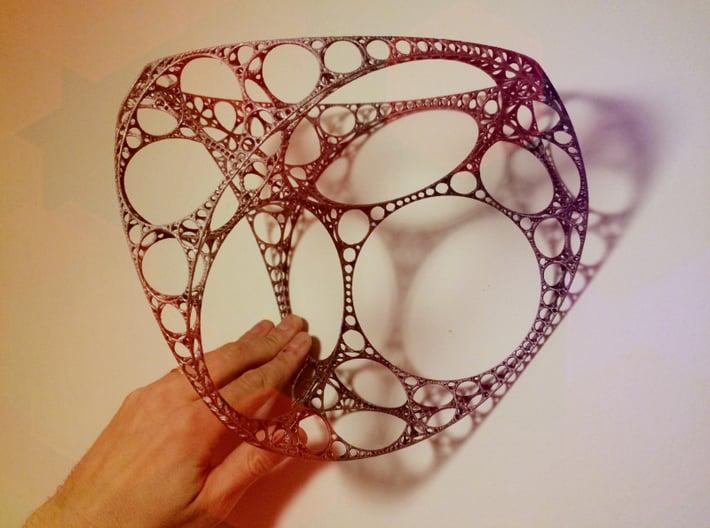 Apollonian Tetrahedron XXL 3d printed Manually painted model
