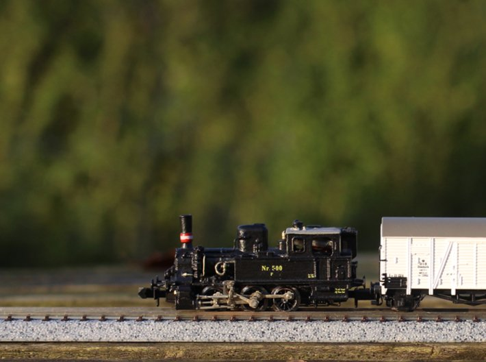 DSB F class N scale (funnel shaped extended tender 3d printed