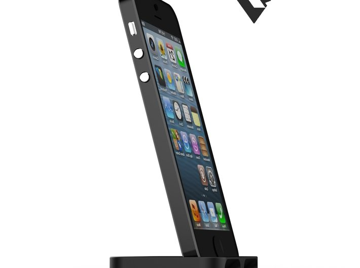 iPhone5_3D slimline dock [VvK] 3d printed