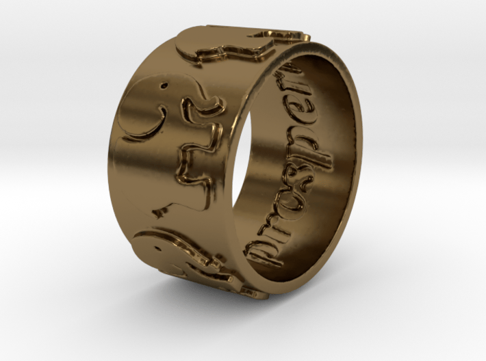 Prosperity Ring Size 7 3d printed