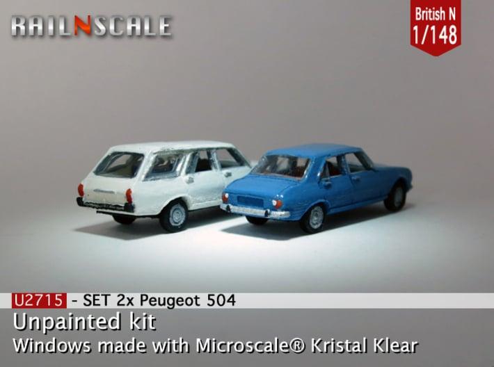 SET 2x Peugeot 504 (British N 1:148) 3d printed