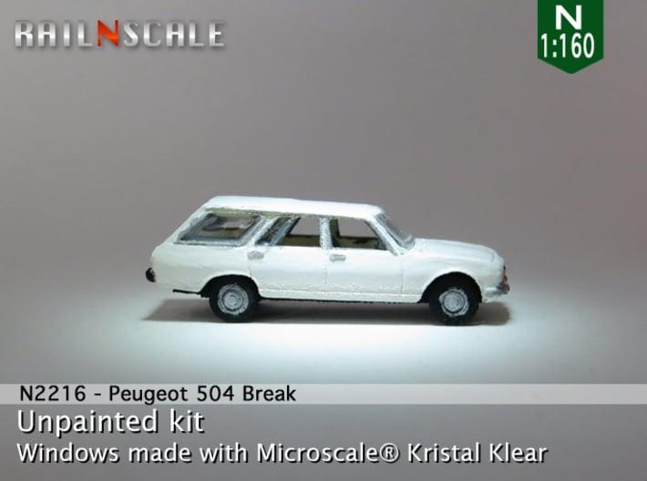 Peugeot 504 Break (N 1:160) 3d printed