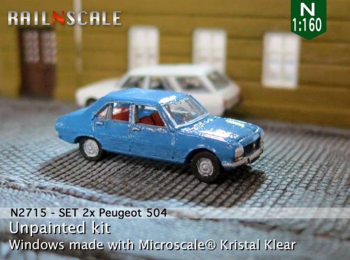SET 2x Peugeot 504 (N 1:160) 3d printed