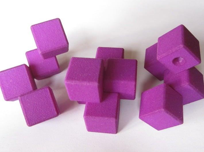 QBurr Keychain Puzzle 3d printed Puzzle pieces