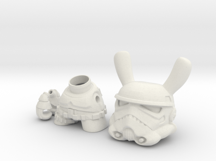 3 inch Trooper bunny  3d printed