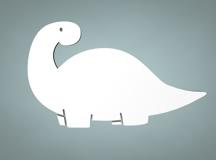 Brontosaurus Cookie Cutter 3d printed Makes your dough shaped like this!