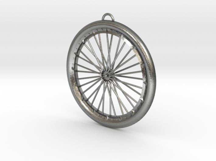 Custom bike bicycle wheel pendant 3d printed