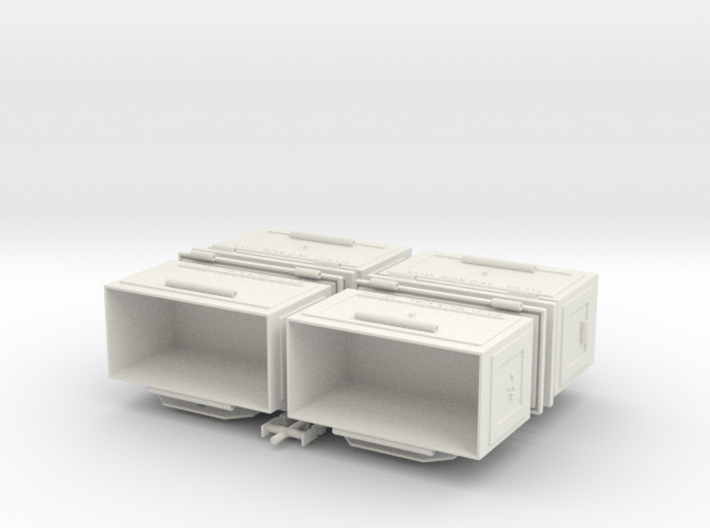 1/6 50 Cal Ammo Can Set of Four 3d printed