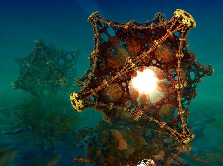 Kaleidoscopic Fractal Virus Lamp 3d printed The original artwork