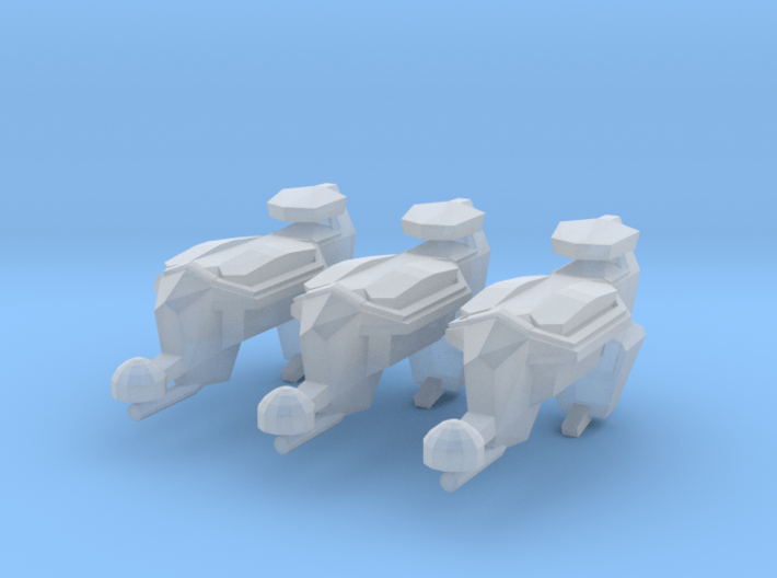 """Kushan """"Puppeteer"""" Drone Frigates (3) 3d printed"""
