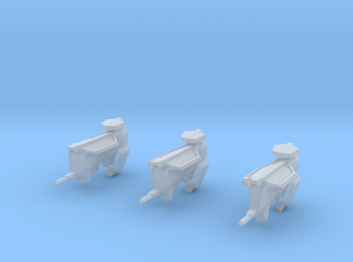 """Kushan """"Matriarch"""" Support Frigates (3) 3d printed"""