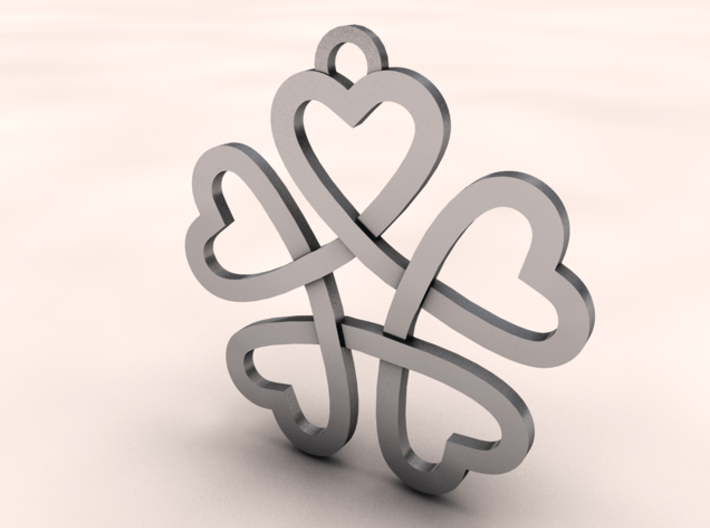 Heart necklace 3d printed