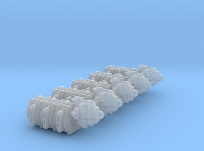 Transportship Beta (5 models) 3d printed