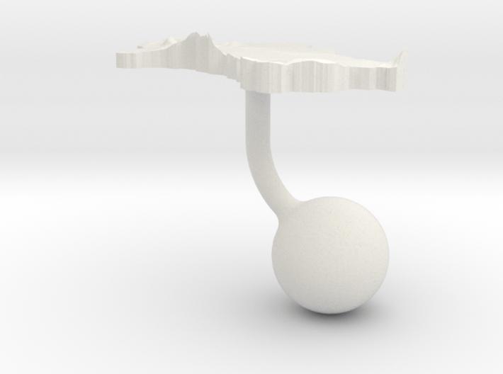 Turkmenistan Terrain Cufflink - Ball 3d printed
