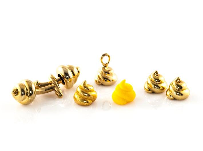 Lucky Golden Poo Earrings 3d printed