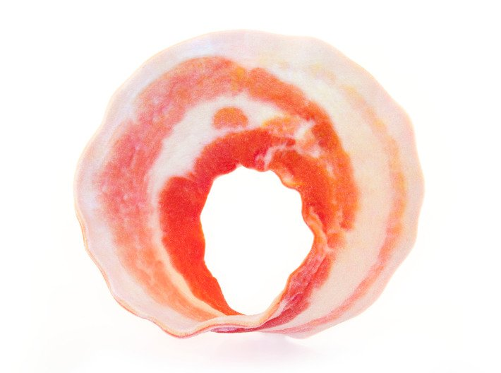 Bacon Mobius Strip 3d printed Uncoated Back