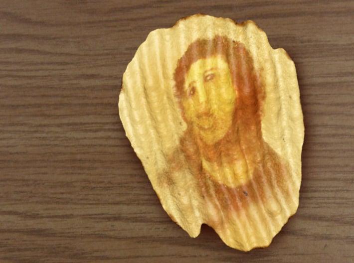 Potato Jesus, Miracle Potato Chip 3d printed